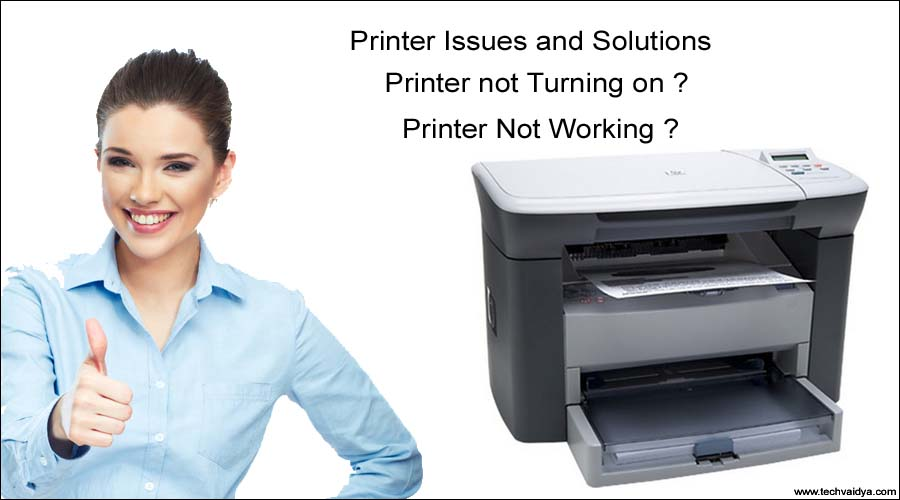 Printer not turning on