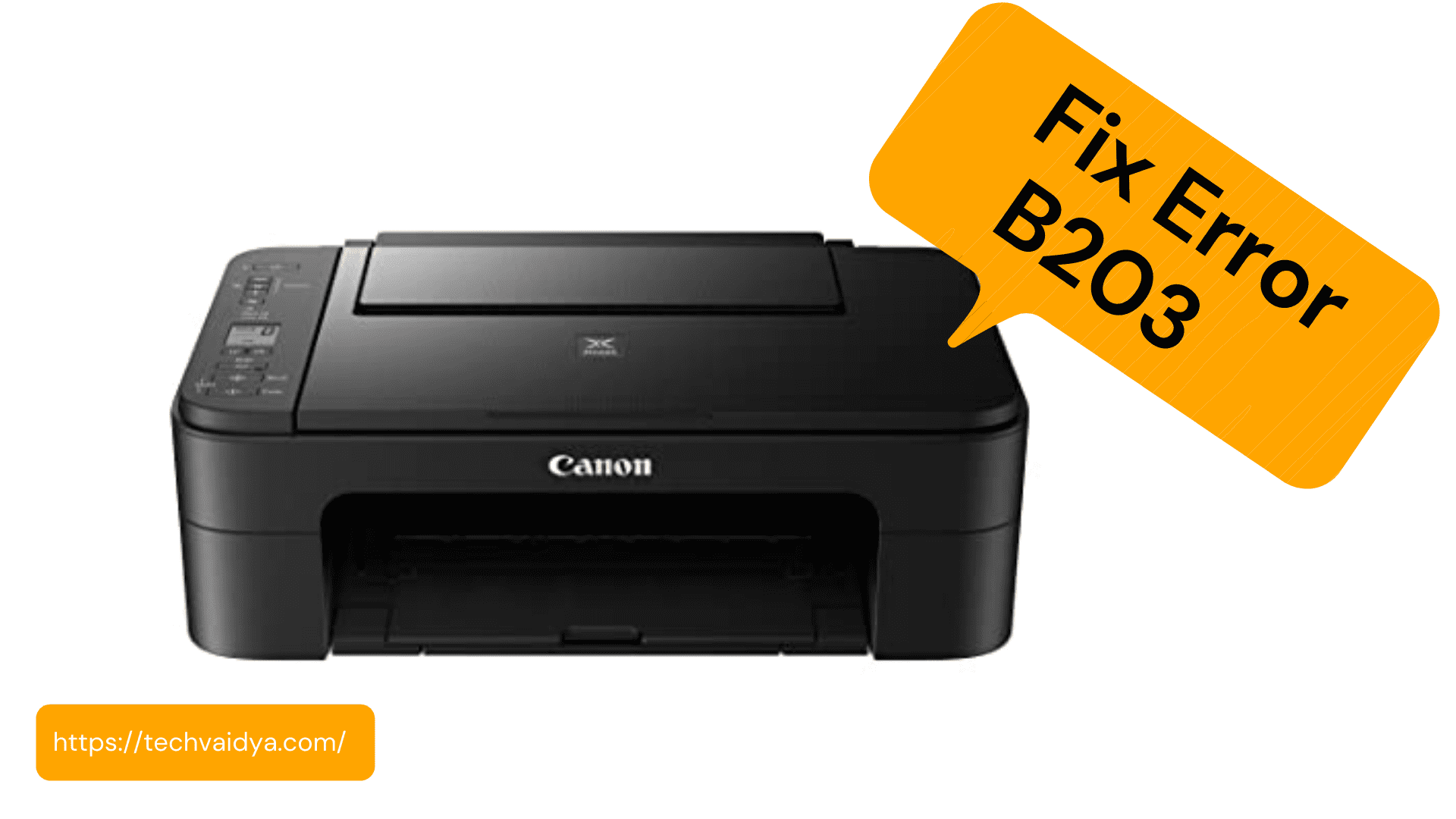 How to Fix canon error B203