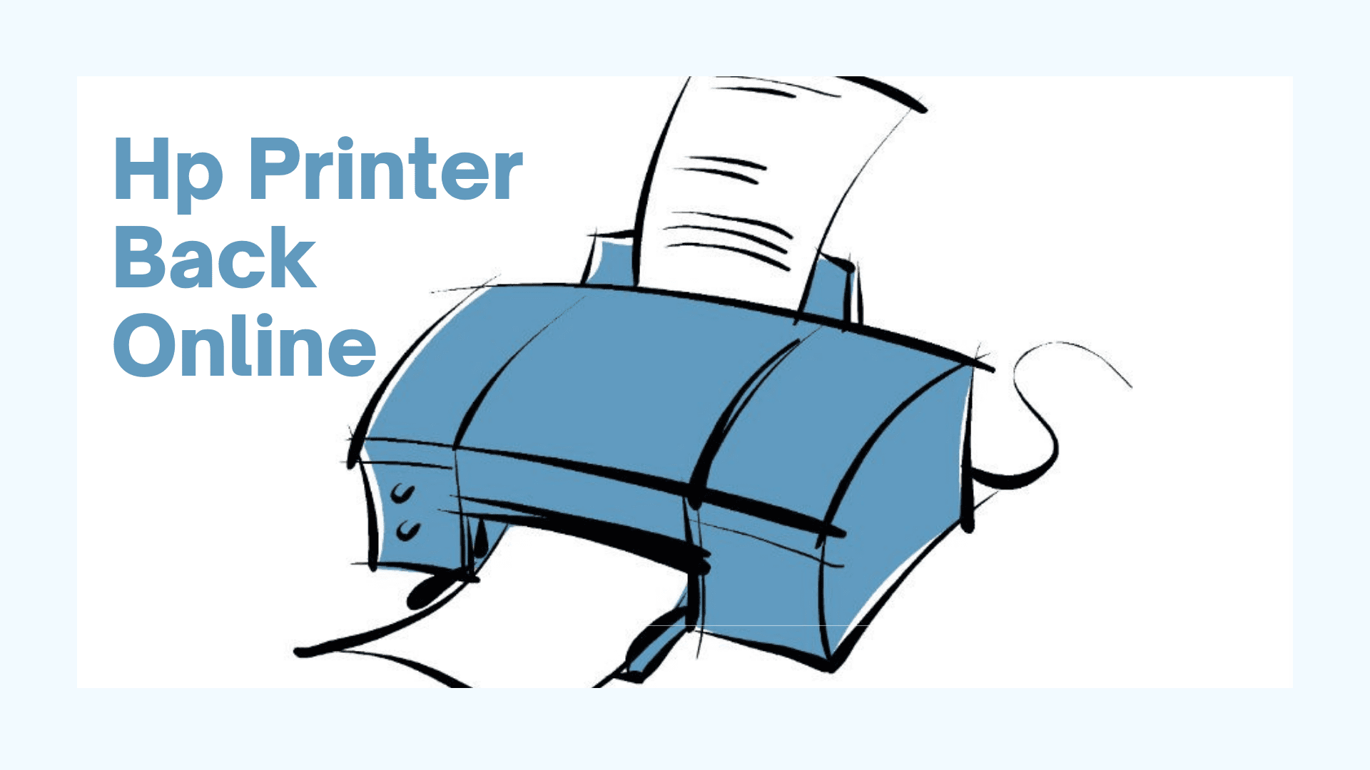 How to get the hp printer back online?